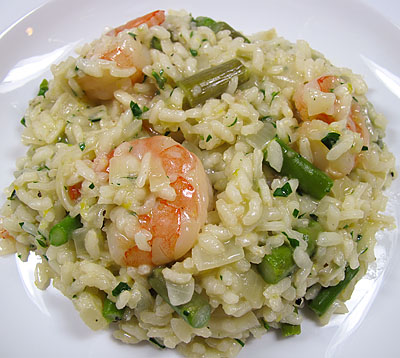 Lemony Risotto with Asparagus and Shrimp | Bay Area Foodie