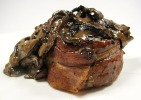Filet Mignons with Whisky Mushroom Sauce