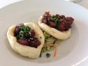 Steamed pork buns, hoisin, vegetable salad